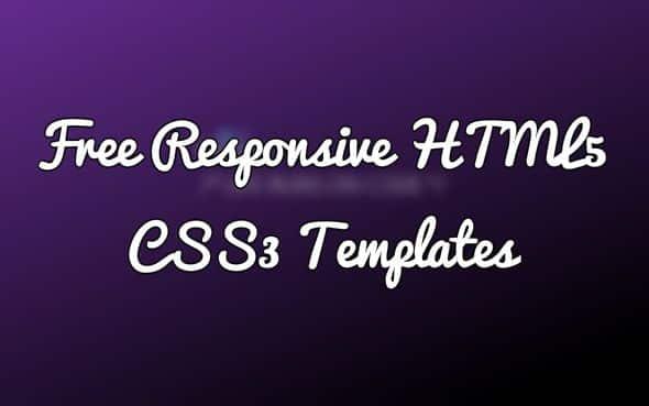 50+ Free Responsive HTML5 CSS3 Templates