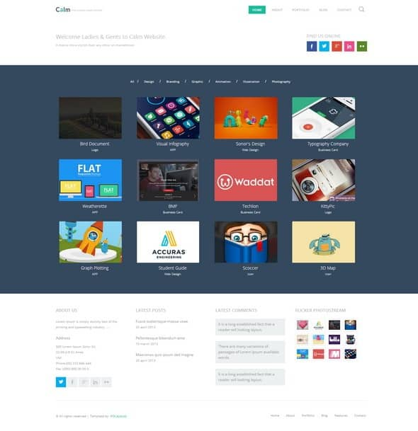 Calm-html 5 layout Website