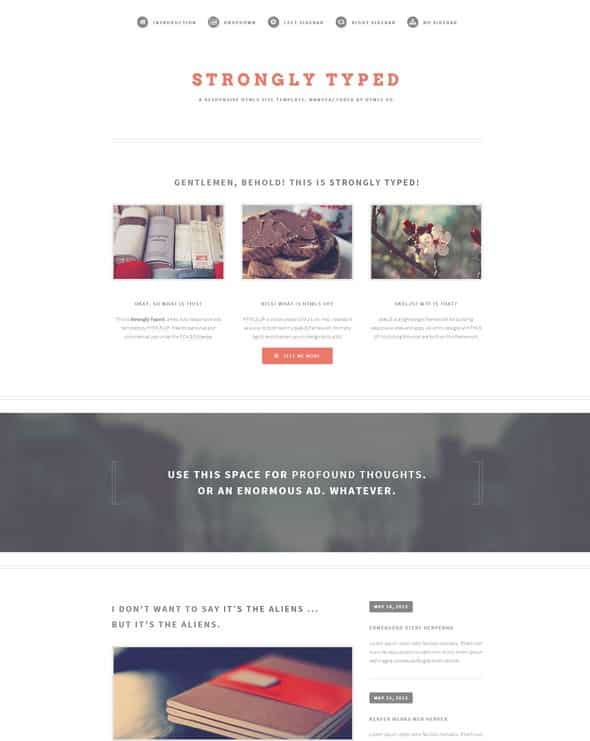 Strongly typed html5 theme