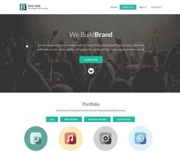 html 5 Bak-one-Website